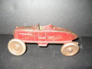 ANTIQUE HUBLEY CAST IRON RACE CAR  ARCADE KENTON