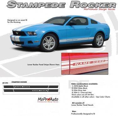 Ford Mustang Factory OEM Style Rocker Panel Stripe and Graphics Kit