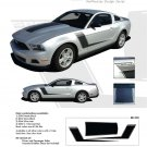 "Ford Mustang 2010 2011 2012 ""LAUNCH"" Roush Style Side and Hood Stripes Kit"