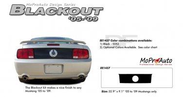 "Ford Mustang 2005 2006 2007 2008 2009 ""BLACKOUT"" Rear Trunk Blackout Stripe Kit"
