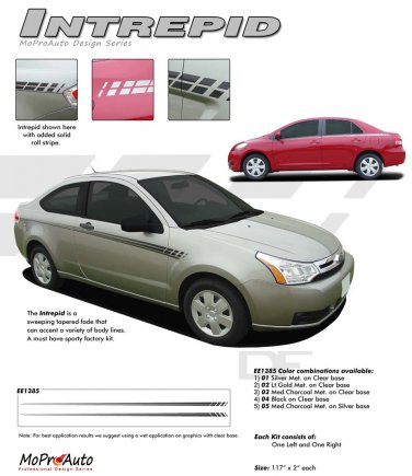 """INTREPID"" 2008-2013 Ford Focus Vinyl Stripes Kit"