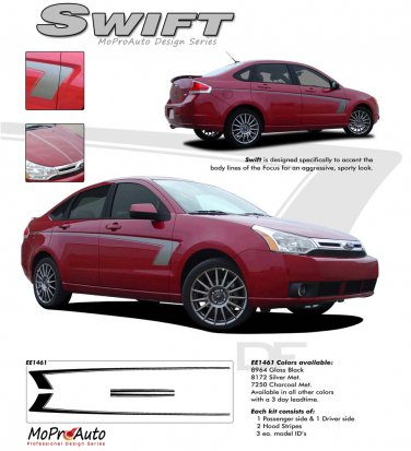 """""""SWIFT"""" 2008-2011 Ford Focus Graphics and Stripes Kit"""