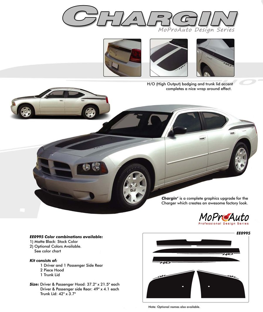 Chargin 2006 2007 2008 2009 2010 Dodge Charger Hood