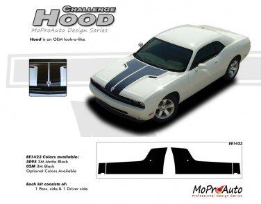 HOOD : Factory OEM Style Vinyl Racing Stripes for 2008 2009 2010 2011 2012 2013 Dodge Challenger