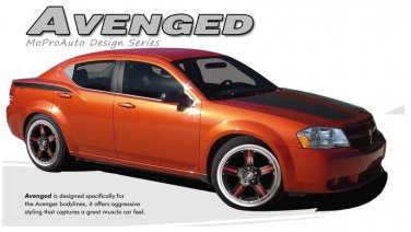 AVENGED : Vinyl Graphics Kit for 2008 2009 2010 2011 2012 2013 SE SXT Dodge Avenger