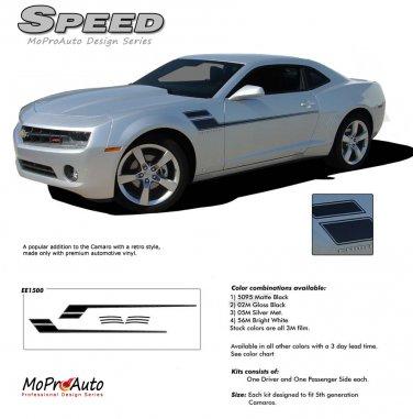 SPEED : 2010 2011 2012 2013 2014 Chevy Camaro Side Vinyl Graphics Kit