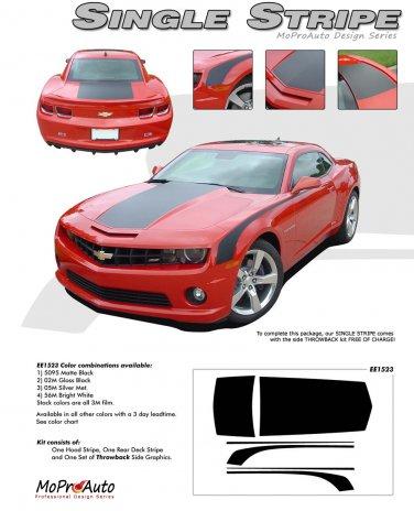 SINGLE WIDE STRIPE : 2010 2011 2012 2013 2014 Chevy Camaro Factory OEM Style Rally Stripes Kit