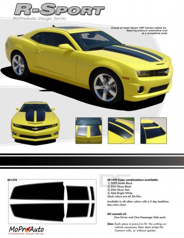 R-SPORT : 2010 2011 2012 2013 2014 Chevy Camaro Factory OEM Style Rally Racing Stripes
