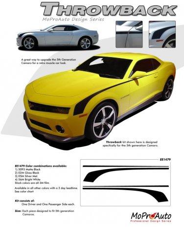 "THROWBACK : 2010 2011 2012 2013 2014 Chevy Camaro ""Hockey Stick"" OEM Style Vinyl Graphics Kit"