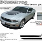 "Ford Mustang 2010 2011 2012 ""DOMINATOR HOOD SPEARS"" Hood Decal Graphic and Stripes Kit"