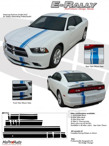 E-RALLY : Vinyl Graphics Kit for 2011 2012 2013 2014 Dodge Charger