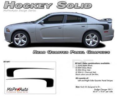 HOCKEY SOLID 1 : Vinyl Graphics Kit for 2011 2012 2013 2014 Dodge Charger