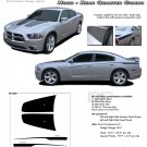 RECHARGE COMBO : Hood & Rear Quarter Stripes Graphics Kit for 2011 2012 2013 2014 Dodge Charger