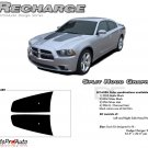 RECHARGE HOOD : Split Hood Decals Graphics Kit for 2011 2012 2013 2014 Dodge Charger