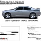 RECHARGE QUARTER PANELS : Rear Decals Graphics Kit for 2011 2012 2013 2014 Dodge Charger