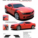 "DOUBLE BAR : 2010 2011 2012 2013 2014 Chevy Camaro ""LeMans"" Style Hood Stripes"
