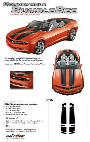 BUMBLEBEE CONVERTIBLE : 2011 2012 2013 2014 Chevy Camaro Racing Stripes Vinyl Graphic Stripes
