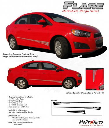 FLARE : Chevy Sonic 2012 2013 2014 Vinyl Graphics and Decals