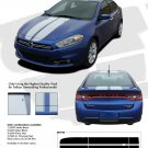 2013-2014 SPRINT RALLY : Hood, Roof, and Deck Lid Racing Stripes for Dodge Dart