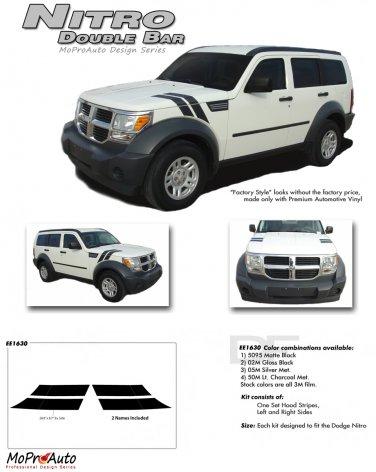Double Bar : 2007 - 2011 Dodge Nitro Vinyl Graphics Kit