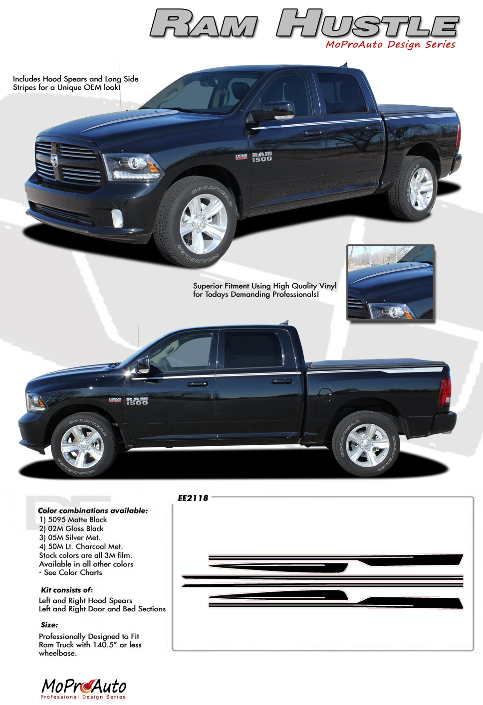 ram hustle 2009 2010 2011 2012 2013 dodge ram hood. Black Bedroom Furniture Sets. Home Design Ideas