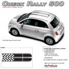 CHECK RALLY : 2011 2012 2013 Fiat 500 Vinyl Graphics Kit