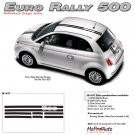 EURO RALLY : 2011 2012 2013 Fiat 500 Vinyl Graphics Kit