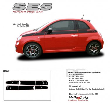SE 5 : 2011 2012 2013 Fiat 500 Vinyl Graphics Kit
