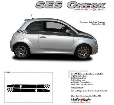 SE 5 CHECK : 2011 2012 2013 Fiat 500 Vinyl Graphics Kit