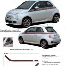 ITALIAN WIDE STRIPE : 2011 2012 2013 Fiat 500 Vinyl Graphics Kit