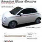 ITALIAN THIN STRIPE : 2011 2012 2013 Fiat 500 Vinyl Graphics Kit