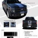 CENTER STRIPE : Ford F-150 Racing Stripes Vinyl Graphics Decals 2009 2010 2011 2012 2013 Models