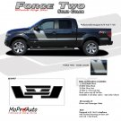 FORCE TWO (Solid) : Ford F-150 Hockey Stripe Vinyl Graphics Decals 2009 2010 2011 2012 2013 Models