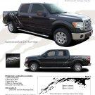 "PREDATOR : Ford ""Raptor"" Style Vinyl Graphics Decals Kit 2009 2010 2011 2012 2013 Models"