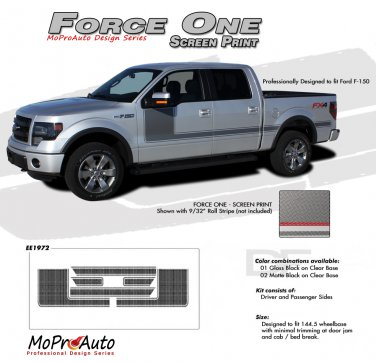 FORCE ONE Screen : Ford F-150 Hockey Stripe Vinyl Graphics Decals 2009 2010 2011 2012 2013 Models