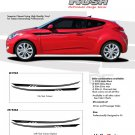 RUSH : Vinyl Graphics Kit Engineered to fit the 2011 2012 2013 Hyundai Veloster