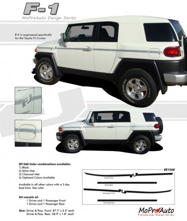 F1 : Body Accent Striping and Graphics Kit for 2007-2013 FJ Cruiser