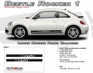 BEETLE ROCKER 1 : Lower Rocker Panel Vinyl Graphics Kit for 1998-2013 Volkswagen Beetle