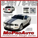 Mustang V6 Racing - 3M Pro Vinyl Rally Stripes Decals Graphics 2006 * 516