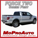 2009 F-150 FORCE TWO Screen Print Side Hockey Decals Stripes Vinyl Graphics 29L