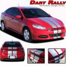 2013-2016 Dodge Dart Rally Racing Stripes Hood Vinyl Graphics Decals Striping