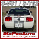 Mustang V6 Racing Rally Stripes Decals Graphics 2008 - 3M Pro Vinyl 587