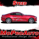 STEED Pony Horse Vinyl Graphics Door Stripe 3M Decals for 2016 Ford Mustang - S8
