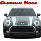 CLUBMAN Dual Hood Stripes Vinyl Graphic Decal Kit for 2016 2017 2018 Mini Cooper