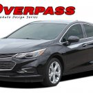 Overpass Upper Door Stripes Vinyl Graphic Decals Kit 2016 2017 2018 Chevy Cruze