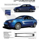 Pierce Body Side C Vinyl Graphics Stripe Decal 3M Pro Fits Ford Focus Models
