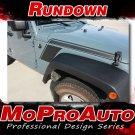2008-2017 Jeep Wrangler RUNDOWN Stripe Decals Graphic 3M Pro Series Vinyl PD2825