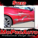 STEED Pony Horse Vinyl Graphics Door Stripe 3M Decals for 2017 Ford Mustang - S2