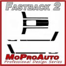 FASTBACK 2 BOSS Style Mustang GRAPHICS Stripes - 3M Pro Grade Decal 2005 336