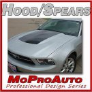 Mustang HOOD SPEARS BLACKOUT Decal Stripe Graphics - 3M Pro Grade 2011 572